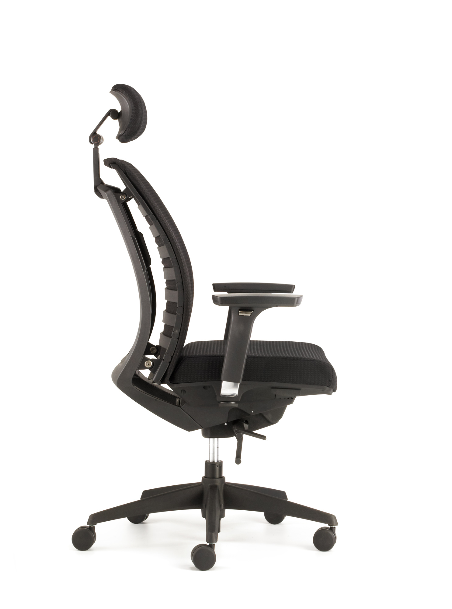 COMO Drehstuhl mit 4D-Armlehnen, Kopfstütze, Sitztiefenverstellung und WAS-Kunststoff-Rücken