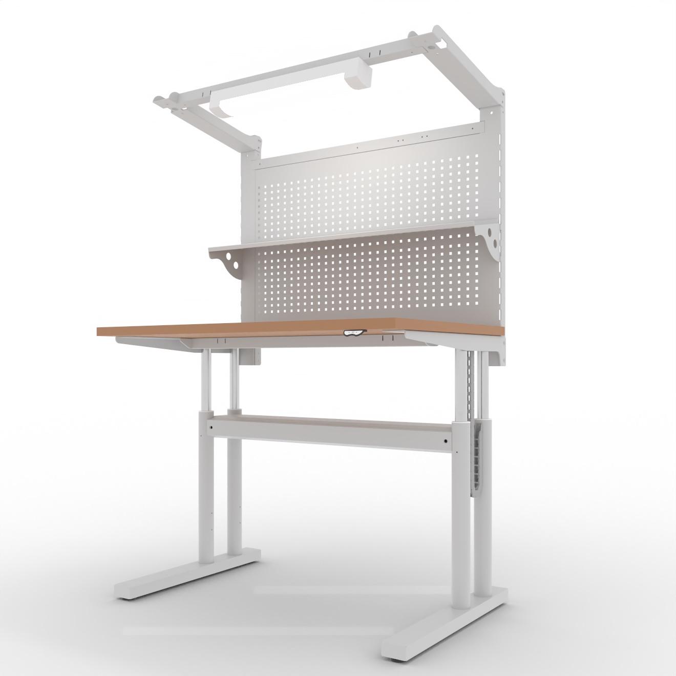 """COMO elektrisch höhenverstellbarer Montagetisch """"montiVARIO"""" - 1200x800x725/1600 x 1255/2130 mm"""