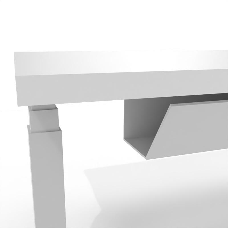 Kabelkanal, horizontal, weiß-schwarz-silber - 1100/1470 mm