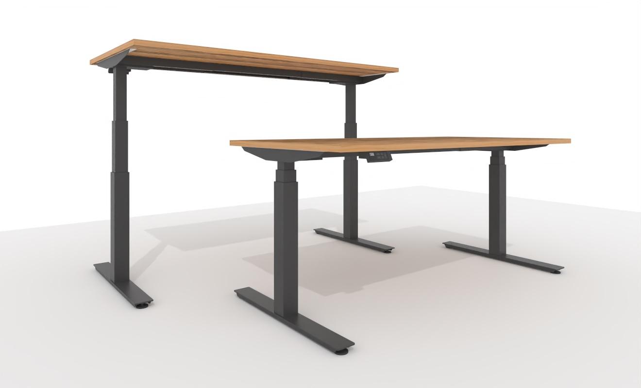 """COMO elektrisch höhenverstellbarer Schreibtisch """"adjustVARIO"""" 1608 - 1600x800x650-1300 mm"""