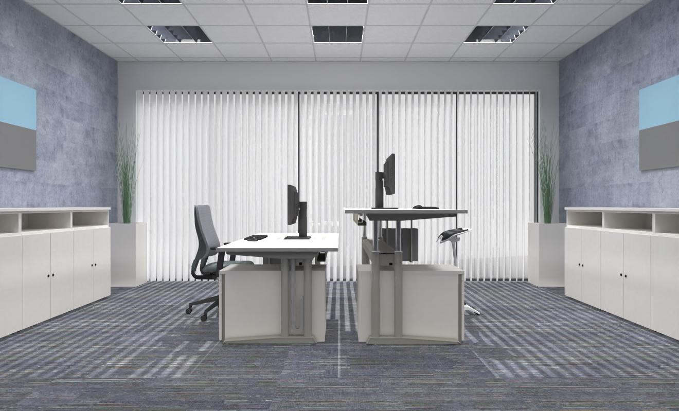 """COMO elektrisch höhenverstellbarer Schreibtisch """"driveVARIO"""" 160872 - 1600x800x720-1250 mm"""