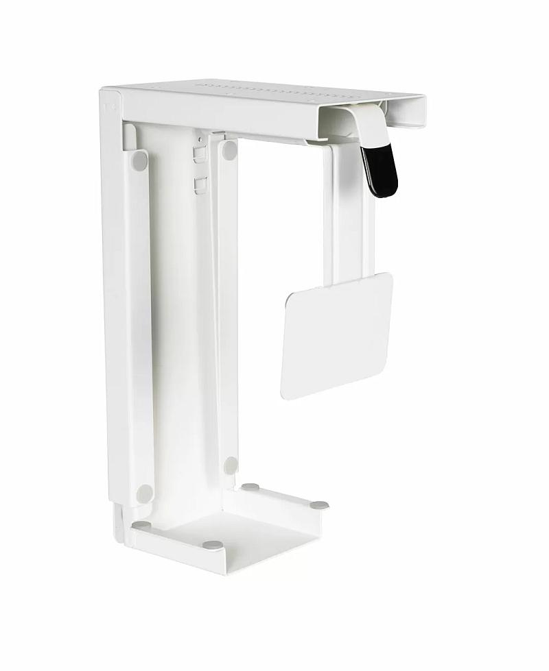 PC-Halter, verstellbar, weiß-schwarz-silber