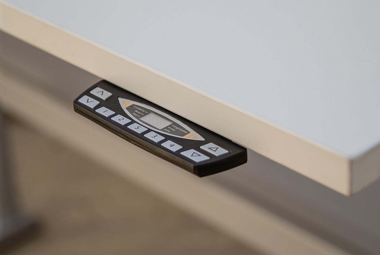 """COMO elektrisch höhenverstellbarer Schreibtisch-Gestell """"driveVARIO"""" 160872 - 1580x700x695-1225 mm"""